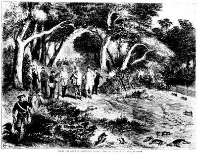 ১৮৬০ সালে অস্ট্রেলিয়ায় খরগোস শিকারের দৃশ্য